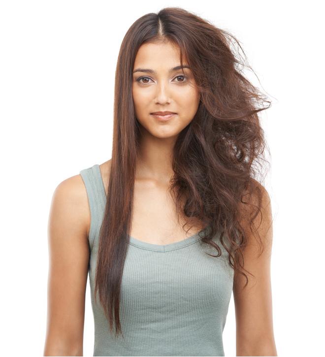 убрать пушистость волос