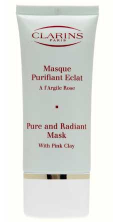 Очищающая маска стимулирующая здоровый цвет лица Clarins создана на основе розовой глины.