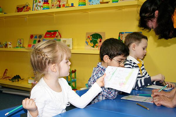 Детский центр раннего развития, занятия с детьми
