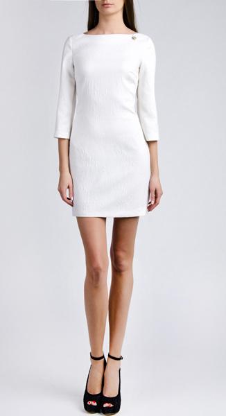 Белое мини-платье