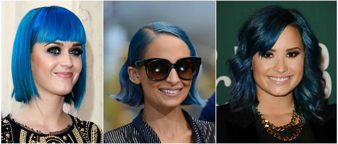 Знаменитости с синими волосами