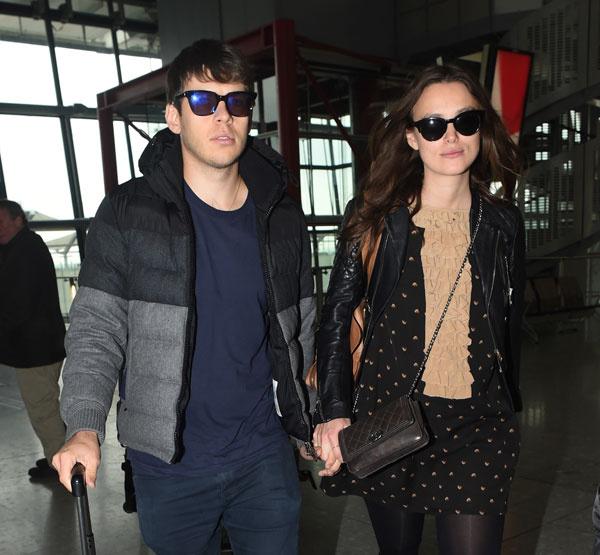 Кира Найтли и Джеймс Райтон в аэропорту Лондона
