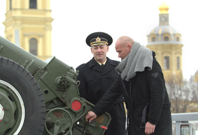 Максим Аверин, фото, Петропавловская крепость, пушка