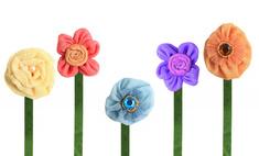 Рукоделие: учимся делать красивые цветы из органзы