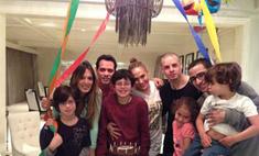 Дженнифер Лопес провела вечер с Каспером Смартом и Марком Энтони