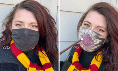 Художница создает «волшебные» противовирусные маски по мотивам «Гарри Поттера» с проявляющимися при дыхании картинами (видео)