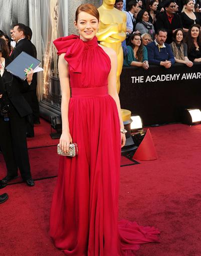 "Эмма Стоун (Emma Stone) на ""Оскаре-2012"""