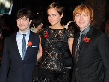Дэниэл Рэдклифф (Daniel Radcliffe), Эмма Уотсон (Emma Watson) и Руперт Гринт (Rupert Grint)