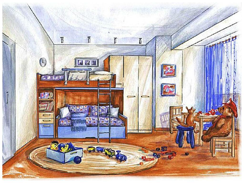 Рисунок в детской комнате