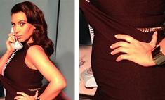 Ким Кардашьян показала округлившийся живот