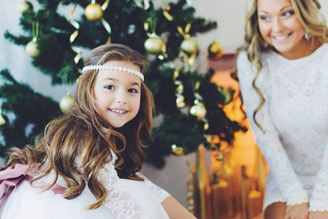 Илона Ребицкая, телеведущая, с дочкой, фото