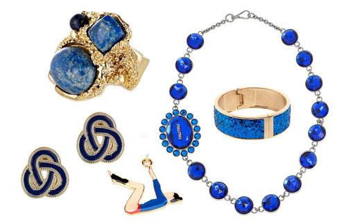 По часовй стрелке: кольцо Oasis, колье из пластика Miu Miu, браслет с блестками Asos, подвеска Calourette, серьги TopShop