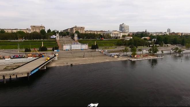 Волгоград, Волга, разлив, река