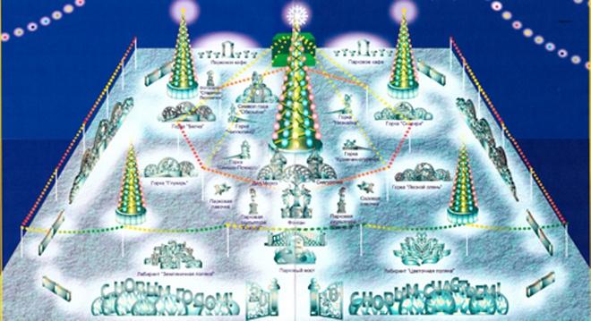 Схема ледового городка в Советском районе