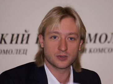 Евгений Плющенко на пресс-конференции