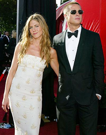 Дженнифер Энистон (Jennifer Aniston) и Брэд Питт (Brad Pitt)