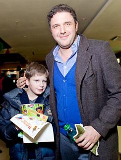 Максим Виторган с сыном Даниилом