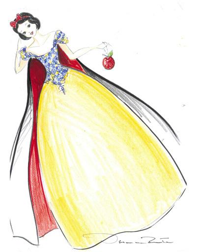 Платье Oscar De La Renta для Белоснежки