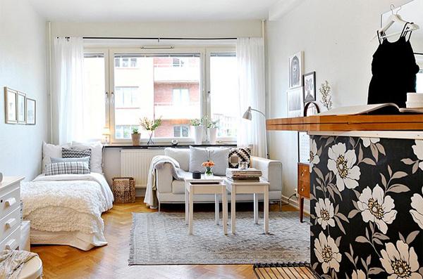 Дизайн маленькой квартиры-студии 26 метров фото