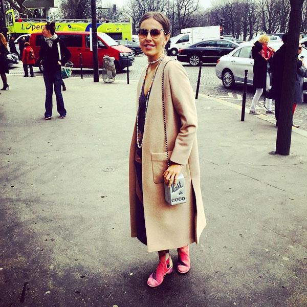 Ксения Собчак на Неделе моды в Париже