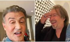 Сталлоне вывесил у себя в «Истаграме» видео с Аль Пачино