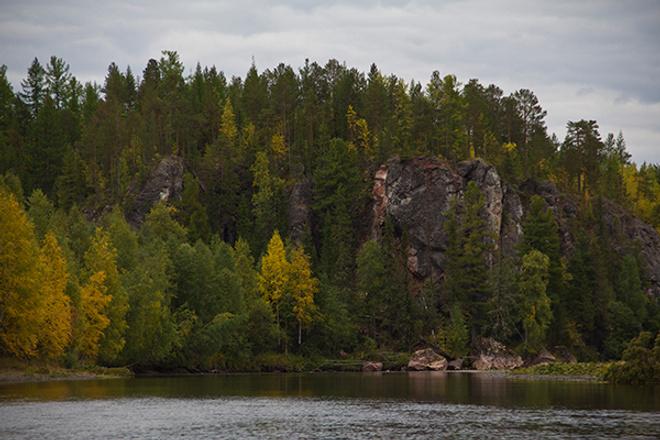 Река Сосьва, осень на Урале