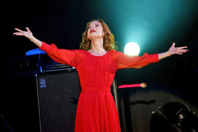 Юлия Савичева выступила в Воронеже
