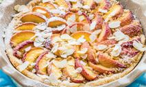 Миндальный торт с персиками от юлии высоцкой