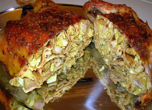 Рецепты как приготовить фаршированную курицу в духовке