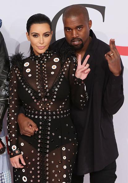 Ким Кардашьян и ее супруг Канье Уэст на церемонии CFDA Fashion Awards 2015