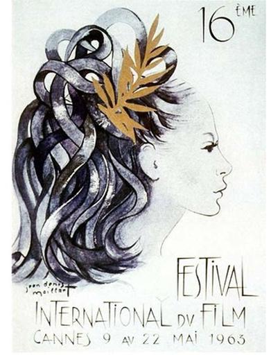 Плакат Каннского кинофестиваля 1963 года