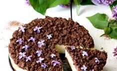 Чизкейк с шоколадной крошкой