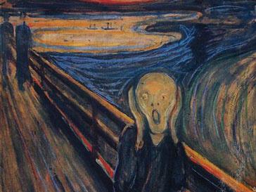 Фрагмент картины «Крик» Эдварда Мунка