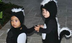 Звезды одели своих детей в костюм скунса