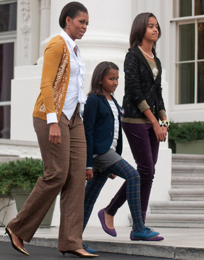 Мишель Обама (Michelle Obama) с дочерьми