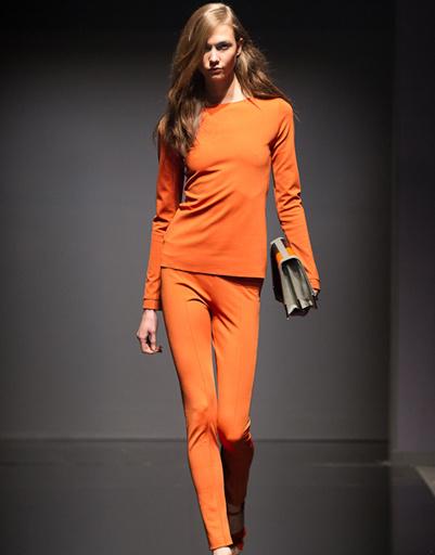 Карли Клосс (Karlie Kloss) на показе LUBLU Kira Plastinina, осень-зима 2012/13, Volvo-Неделя моды в Москве