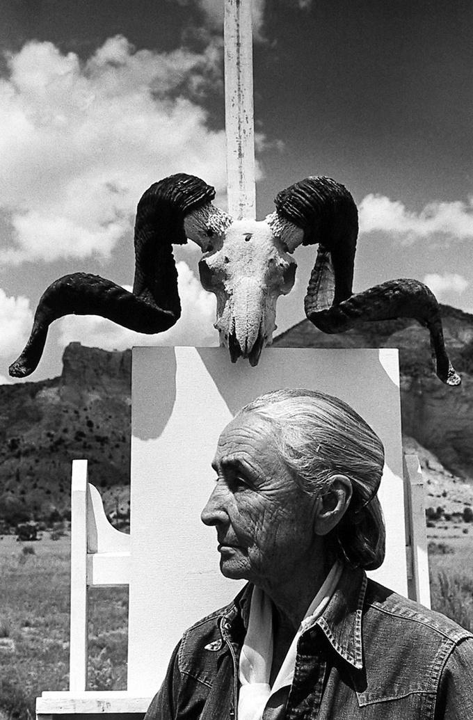 Арнольд Ньюман. Джорджия О'Киф, художница, Гоуст-Ранч, Нью-Мексико, 1968