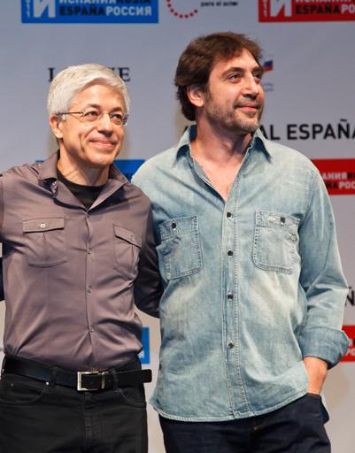 Хавьер Бардем со своим учителем Хуаном Карлосом Корацца