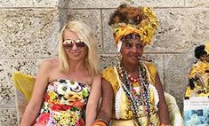 Яна Рудковская посетила показ Chanel на Кубе