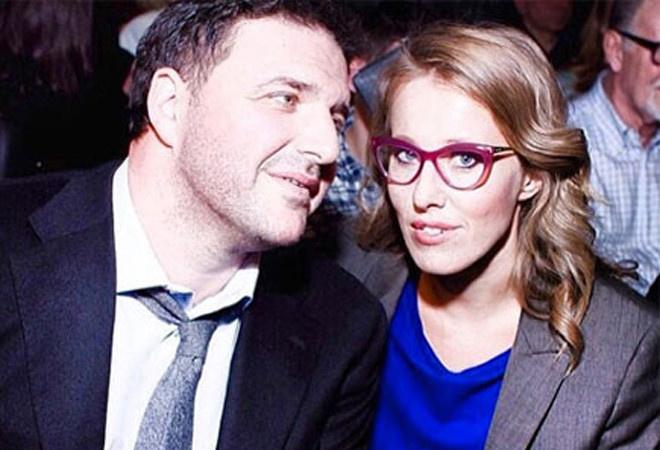 Максим Виторган и Ксения Собчак фото