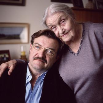 Евгений Киселев с мамой
