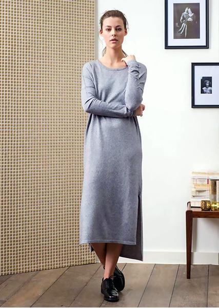 Теплое зимнее платье – как носить модно