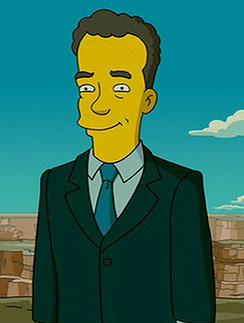 """Том Хэнкс (Tom Hanks) в мультфильме """"Симпсоны"""""""