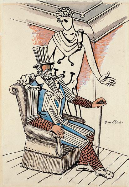 Джорджо де Кирико. Эскиз обложки сувенирной программы «Русских балетов» 1929 года.
