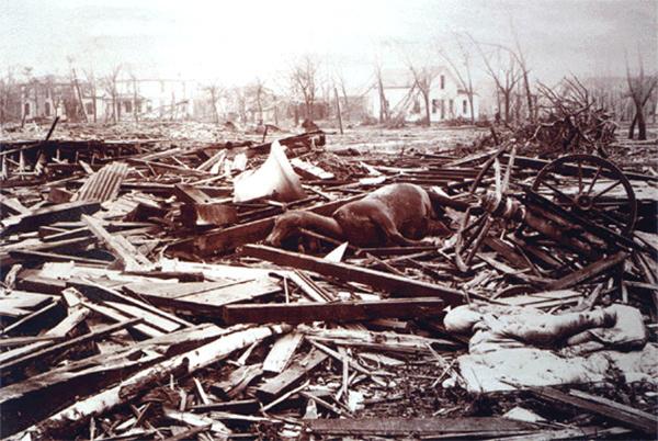 Торнадо трех штатов в 1925 году в Америке, фото