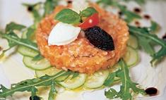 Тартар из лосося с имбирем