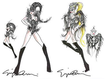 Джорджио Армани (Giorgio Armani) уже создал эскизы костюмов для тура Леди ГаГа (Lady GaGa)
