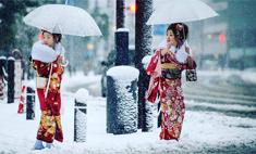 Однажды в Японии: в Токио впервые за 54 года пошел снег