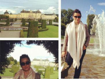Тина Канделаки рядом с резиденцией шведского короля