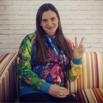 Беременная Елена Исинбаева